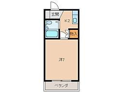 ジョイフル川合[1階]の間取り