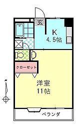 顕徳中央ビル[3階]の間取り