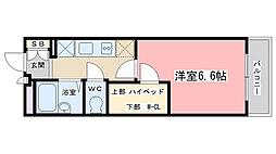 レオパレスOKANISHI[304号室]の間取り