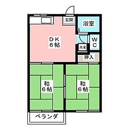 リバーサイドKUZE[2階]の間取り