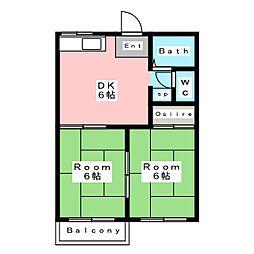 タウニィ蓮台 B棟[2階]の間取り