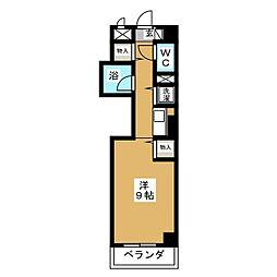 REVER K&M[4階]の間取り