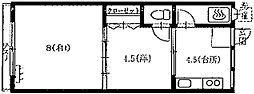 山田マンション[35号室号室]の間取り