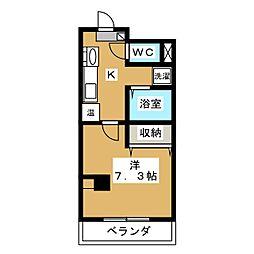 レジデンス花菱[4階]の間取り