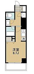 HF駒沢公園レジデンスTOWER 24階ワンルームの間取り
