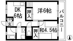 梅田マンション[3階]の間取り