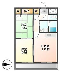 リバーサイド前田[4階]の間取り