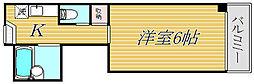 東京都板橋区赤塚4丁目の賃貸マンションの間取り