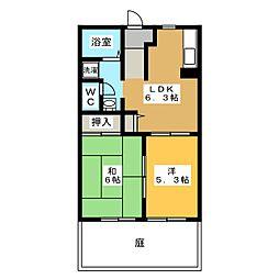 平成カーサメゾン[1階]の間取り