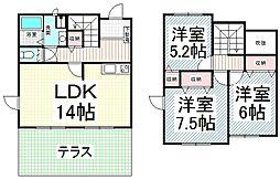 [テラスハウス] 長野県長野市松岡2丁目 の賃貸【/】の間取り