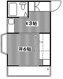 アシュール小金井[203号室]の間取り