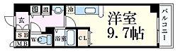 JR東海道・山陽本線 三ノ宮駅 徒歩11分の賃貸マンション 10階ワンルームの間取り