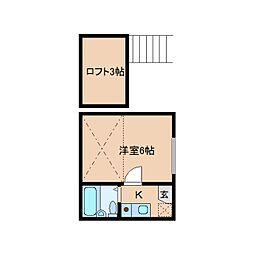 奈良県奈良市東包永町の賃貸アパートの間取り