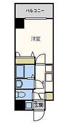 シャルマンフジ大阪城南[10階]の間取り