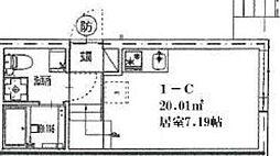 フリーダム315 1階ワンルームの間取り