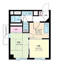 東京都目黒区祐天寺1丁目の賃貸マンションの間取り