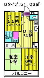 コヤマコーポ[302号室号室]の間取り