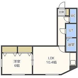 リバティ49[3階]の間取り