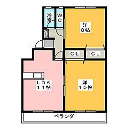 カトウハイツ[2階]の間取り