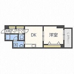 北海道札幌市中央区南四条西25丁目の賃貸マンションの間取り