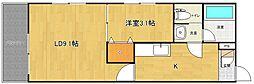 ユートピア三愛東堀[304号室]の間取り