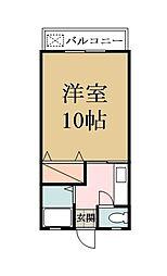 コーポサンフラワー[1階]の間取り