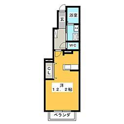 カルム横山[1階]の間取り