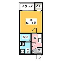 clover(クローバー)[3階]の間取り