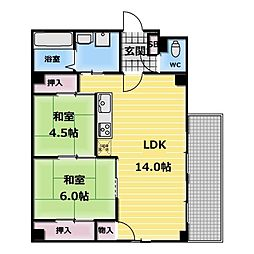 ラガール小阪[4階]の間取り