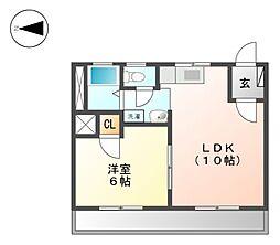 サンダイマンション[2階]の間取り