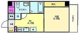 大阪府堺市北区長曽根町の賃貸マンションの間取り