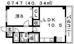 エテルネルA棟[303号室号室]の間取り