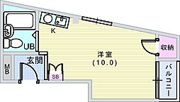 中桜塚Eハイツ[203号室]の間取り