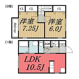 [タウンハウス] 千葉県千葉市若葉区御成台1丁目 の賃貸【/】の間取り