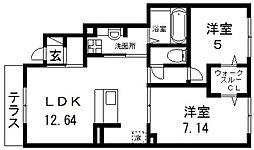 仮称)D-room若江南町B棟[108号室号室]の間取り