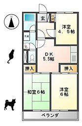 愛知県名古屋市名東区延珠町の賃貸マンションの間取り