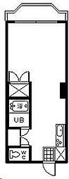 リバーサイド大橋[303号室]の間取り