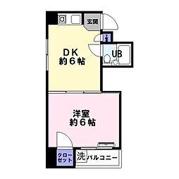 兵庫県神戸市兵庫区湊町4丁目の賃貸マンションの間取り