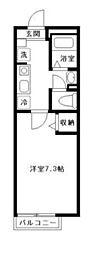 エルメゾン竹の塚[205号室]の間取り