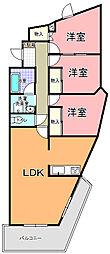 コーキマンション K−2[406号室]の間取り