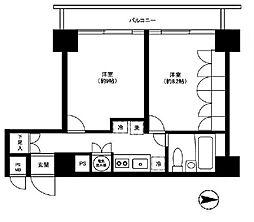 ノア芝大門[4階]の間取り