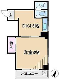 コーポタカノ[3階]の間取り