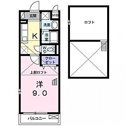 ボヌールアヴニール2[203号室号室]の間取り