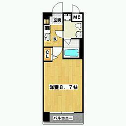 プレサンスNEO京都烏丸[902号室]の間取り