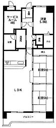 ロイヤルパレス博多[10階]の間取り