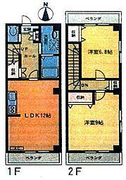 コンフォート川村1[1階]の間取り