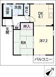 コットネストD棟[2階]の間取り