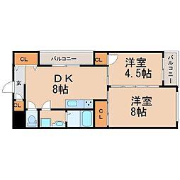 ピュアティ武庫之荘III[4階]の間取り