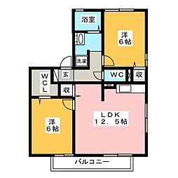 コートハウス岐陽[2階]の間取り