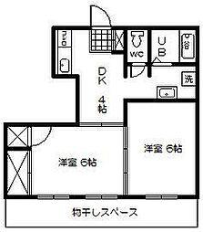 中央ビル[402号室]の間取り